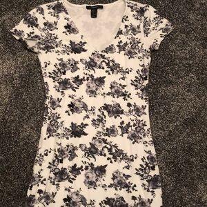 Forever 21 black and white roses dress